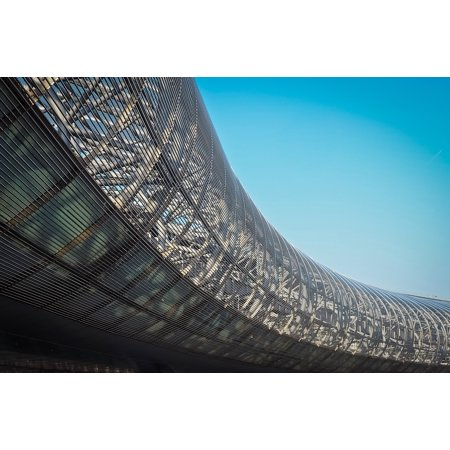 Laminated Poster Architecture Airport Modern International Building Poster Print 24 X 36