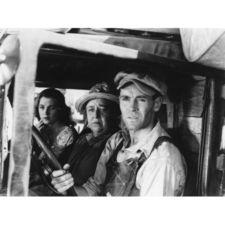 Les Raisins de la colere The Grapes of Wrath 1940 de JohnFord avec Henry Fonda et Jane Darwell 1940 Print Wall Art