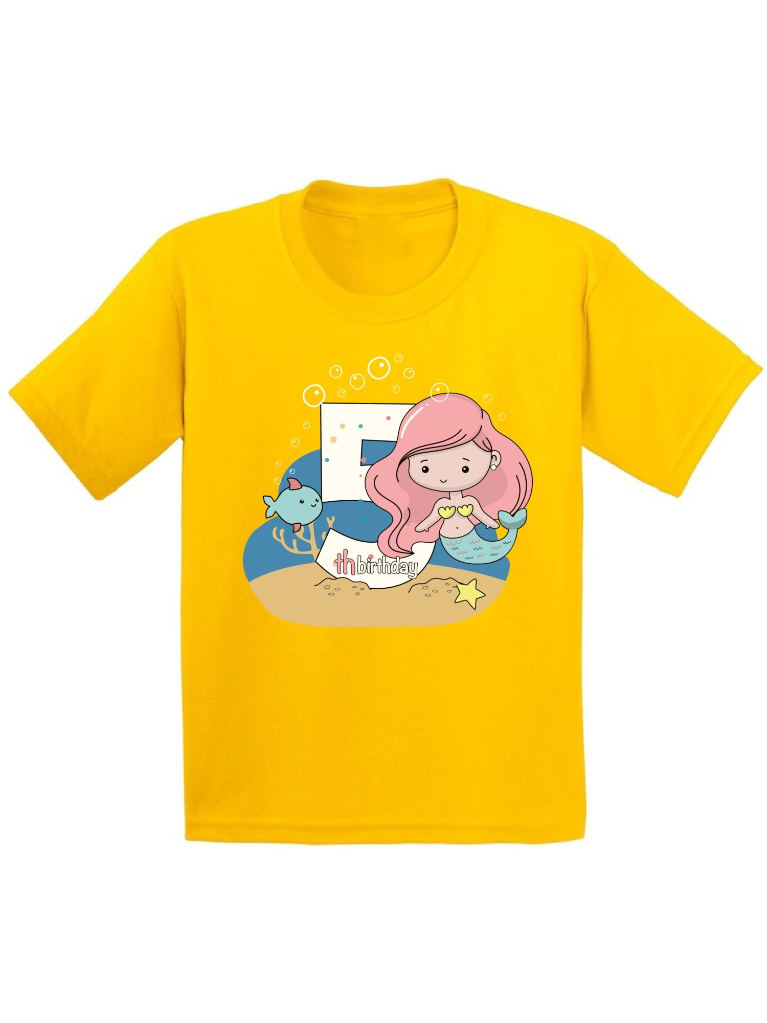 Mermaid Gift Mermaid Birthday T-Shirt Birthday Outfit for Girls