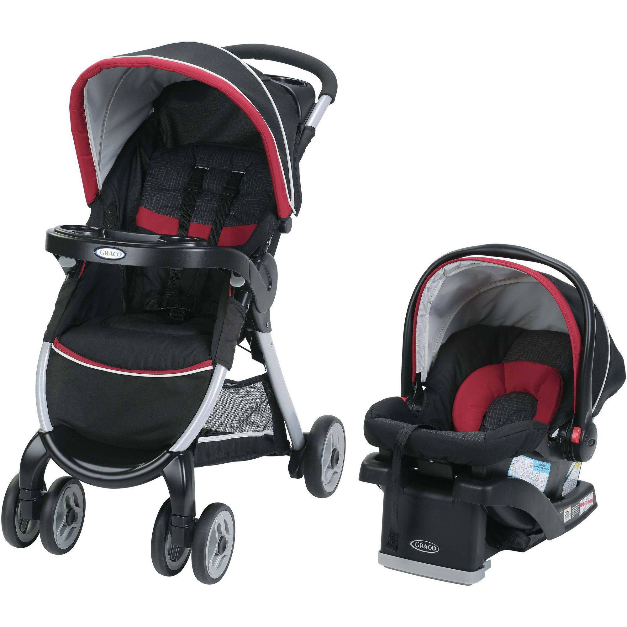 Graco FastAction Fold Click Connect Travel System, Weave