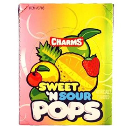 Product Of Charms, Sweet & Sour Pops, Count 48 - Sugar Candy / Grab Varieties & Flavors - Charms Candy