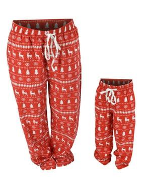 Boys Winter Print Matching Family Holiday Pajama Pants (2t)