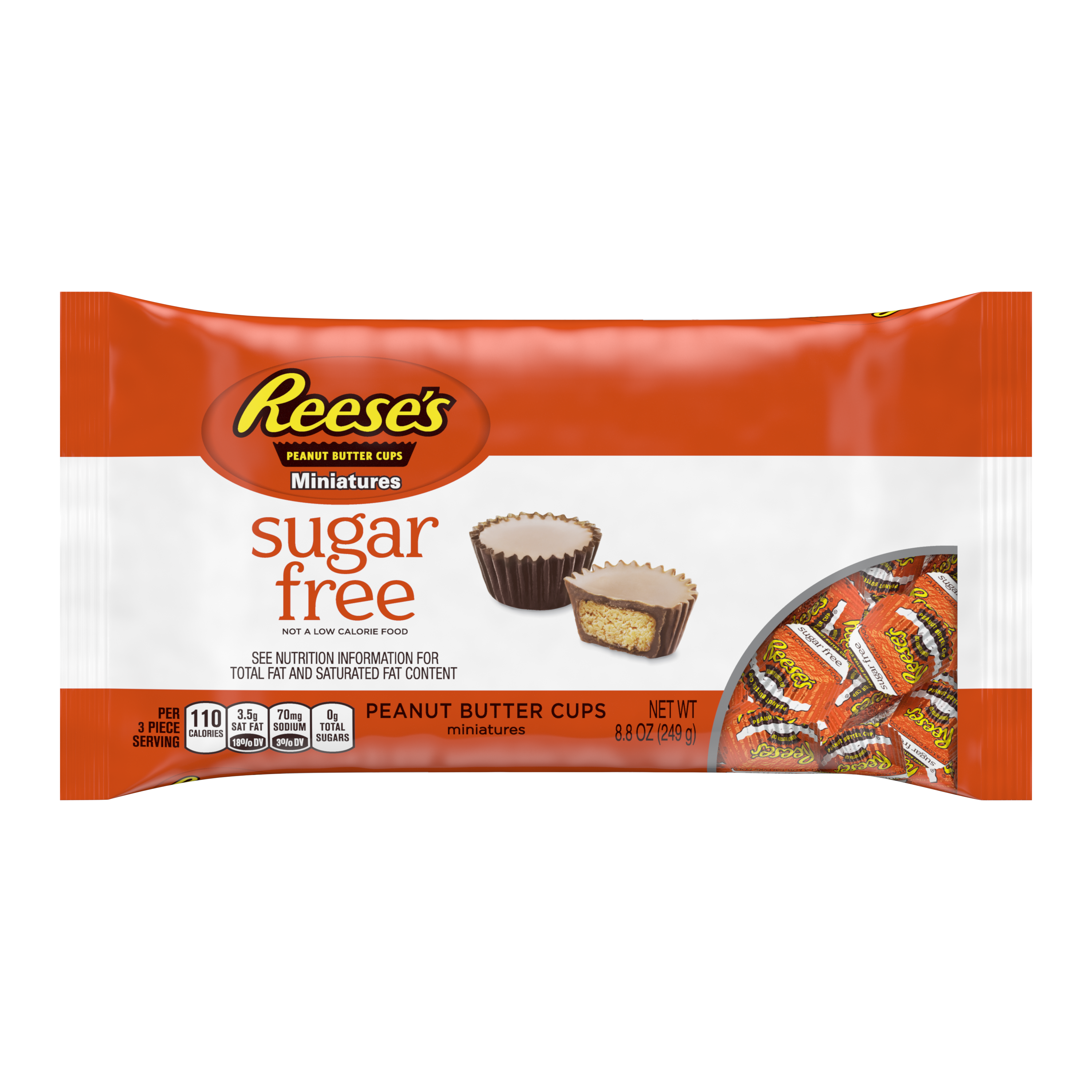 Reese's Peanut Butter Cups Miniatures Sugar Free - 8.8oz