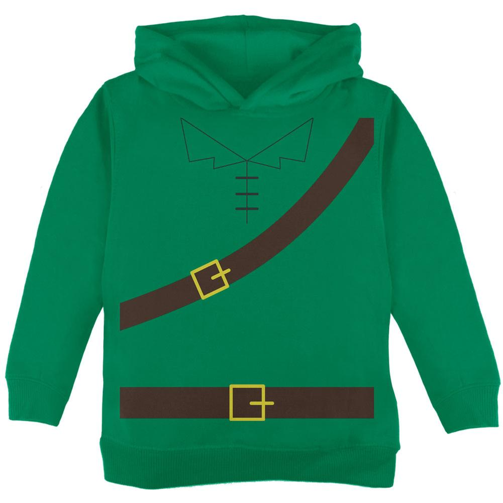 Halloween Robin Hood Costume Green Toddler Hoodie