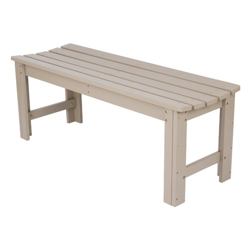 4 Ft. Backless Garden Bench Taupe Gray by Shine Company