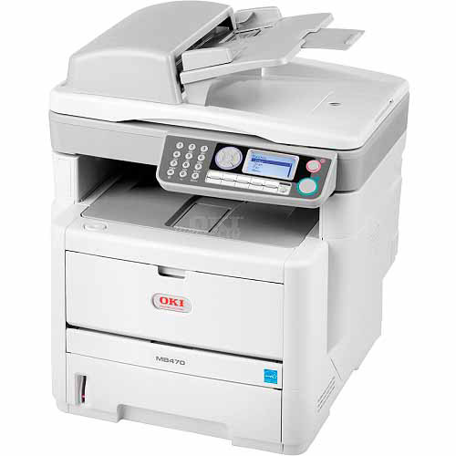 Okidata 62433301 MB480 MFP Multifunction Laser Printer, Copy/Fax/Print/Scan