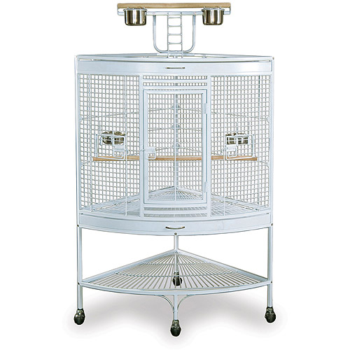 Prevue Pet Products Large Corner Birdcage, White