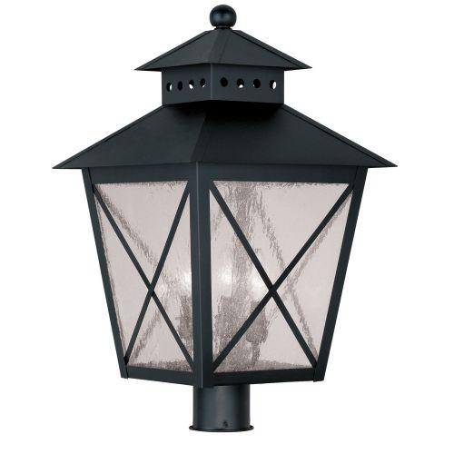 Livex Montgomery 2678-04 3-Light Outdoor Post Head in Black
