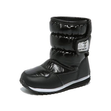 Snow Boots Waterproof Outdoor Warm Shoes for Boys and Girls (Snow Boots For Toddler Boys)