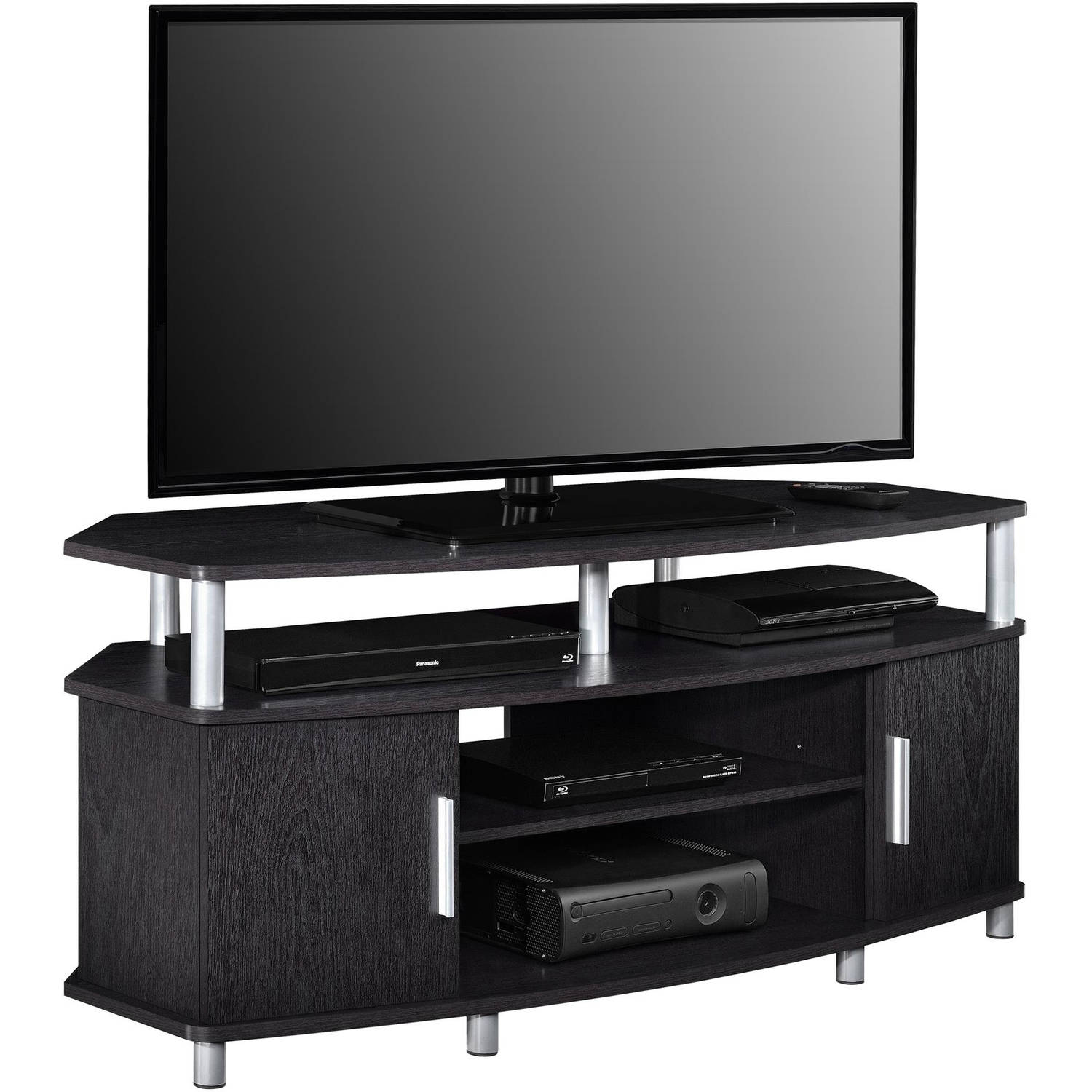 Ameriwood Home Carson Corner Tv Stand For Tvs Up To 50 Wide Black Cherry