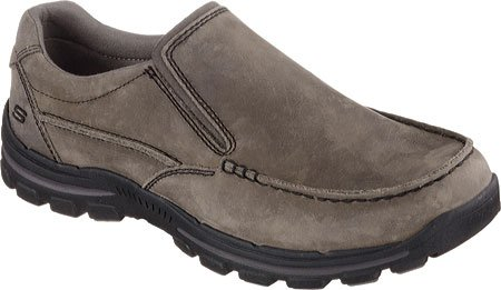 Skechers Men's Relaxed Fit Braver Rayland Slip On,Charcoal,US 7.5 M