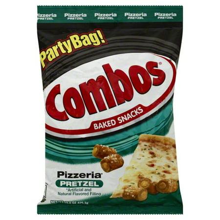 Combos Baked Pizzeria Pretzel Snacks Party Size, 15 Oz.