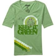 Juniors' Kermit Keep It Green Jersey-Style Tee Shirt