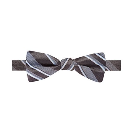 Ryan Seacrest Distinction Boulevard Satin Stripe Pre-Tied Bow Tie (Black, OS)