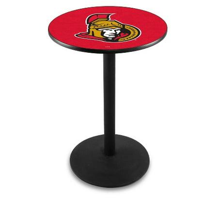 NHL Pub Table by Holland Bar Stool, Black Ottawa Senators, 36'' L214 by