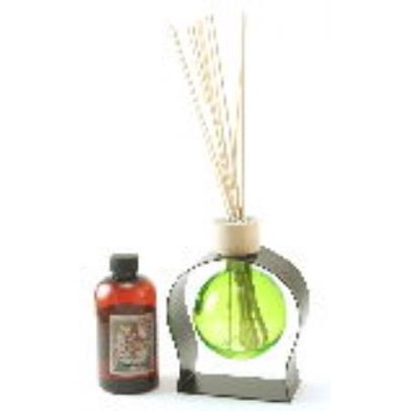 Lime Green 8 5 Ounce Ball Reed Diffuser With Metal Stand   8 Ounces Of Fragrance   Courtneys Candles   Lilac Gardens