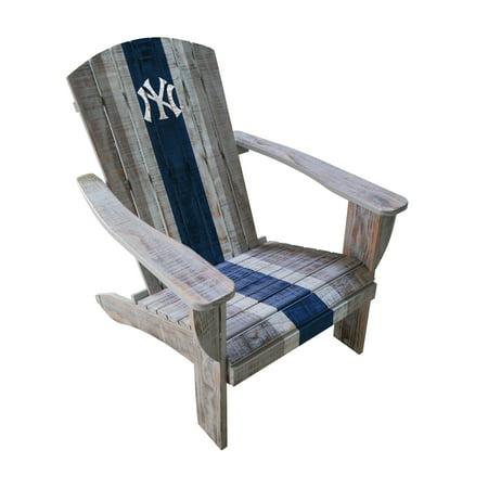 New York Yankees Distressed Wood Adirondack Chair - No Size ()