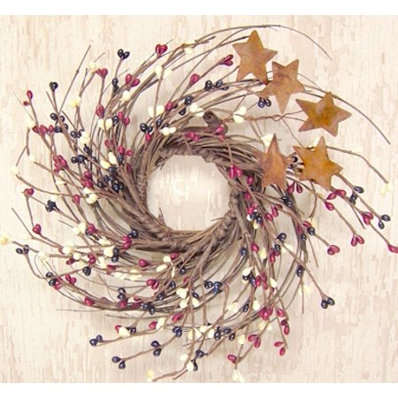 Pip Berry Sprays (Country Mix Small 10 Inch Wreath - Red White and Blue Pip Berries )