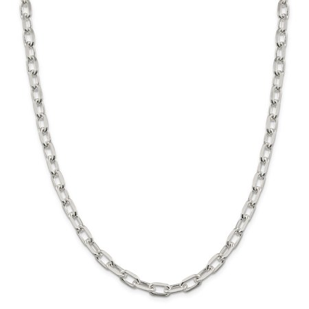 925 Sterling Silver 7.5mm Elongated Open Link Chain 18 Inch - image 5 of 5