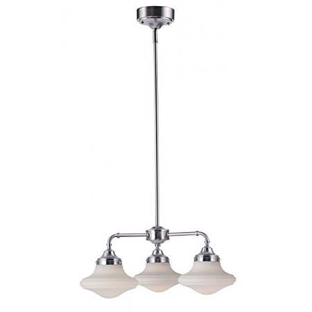 LB72140 LED 3-Light Pendant Lighting, Antique Brushed Nickel, 23W (180W Equiv.) 3000K Warm White, 1300 Lumens, Hanging Ceiling Pendant Light, Opal Glass Shades, ETL & DLC Listed, ENERGY STAR, Dimmabl
