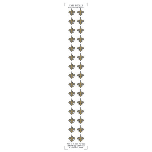 New Orleans Saints Nail Sticker Decals (2 Pack)