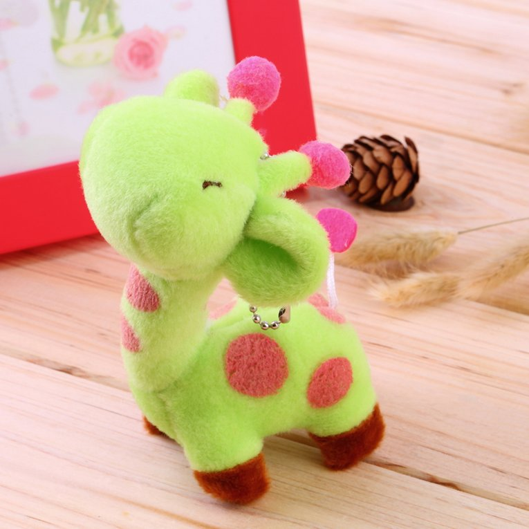 Lovely Cute Kids Child Giraffe Gift Soft Plush Toy Baby Stuffed Animal Doll Green