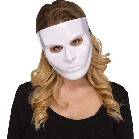 Fun World Solid Blank Female Face Halloween Costume Mask, 7