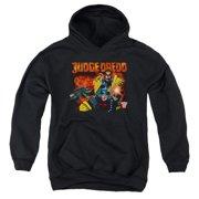 Judge Dredd Through Fire Big Boys Pullover Hoodie