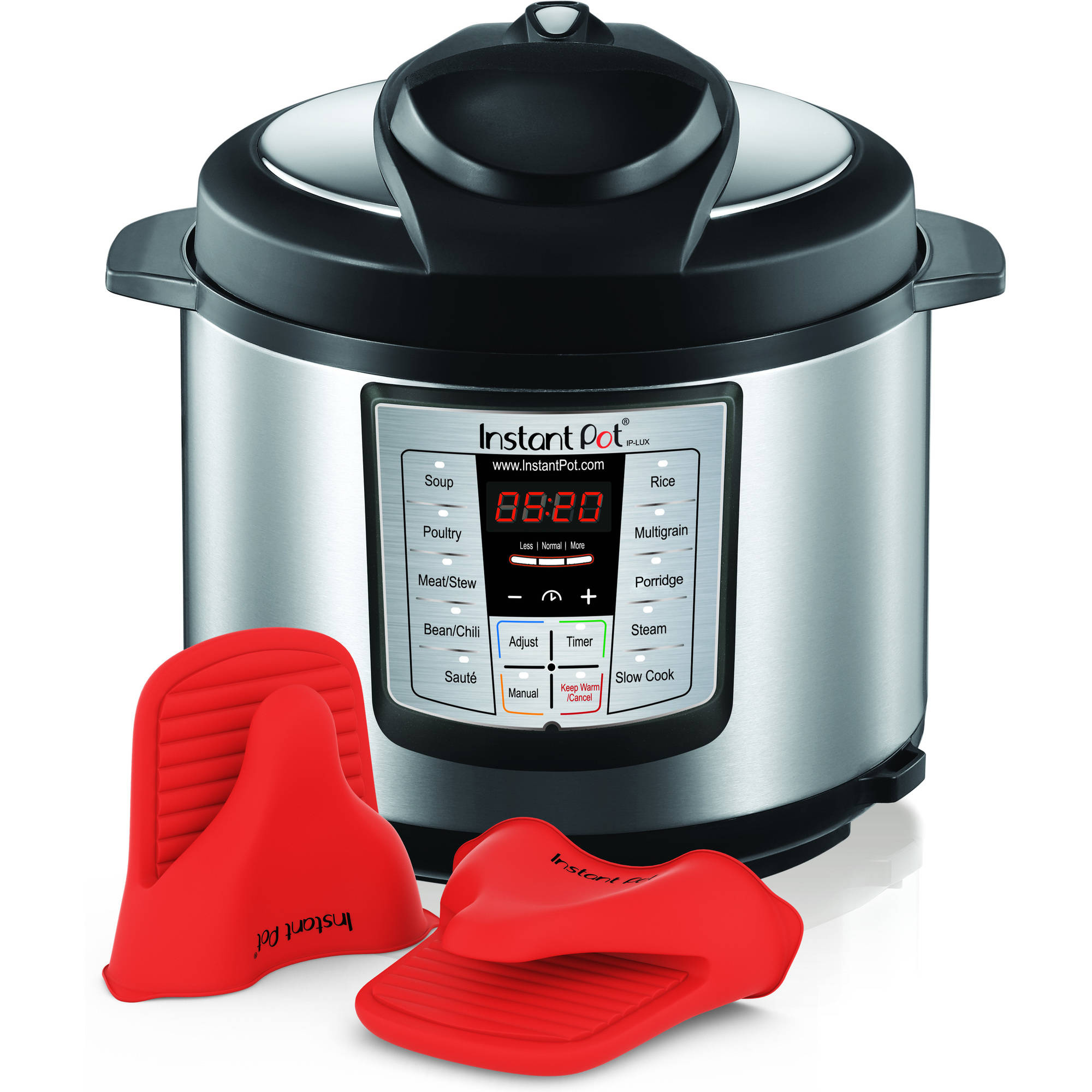 Instant Pot IP-LUX60-ENW Stainless Steel 6-in-1 Pressure Cooker with Mini Mitts