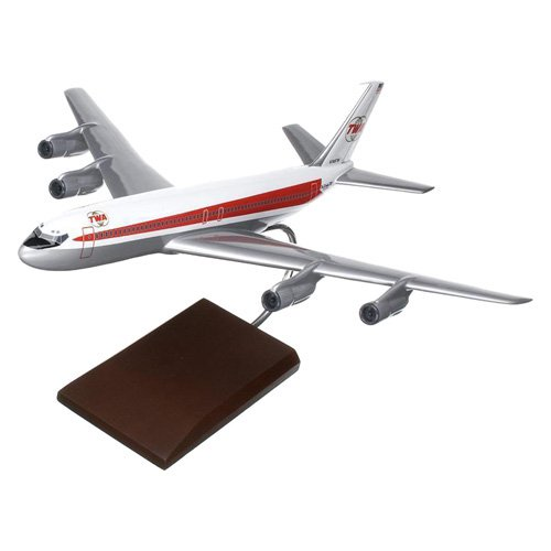 Daron Worldwide Boeing B707-320 TWA Model Airplane by Toys and Models Corporation