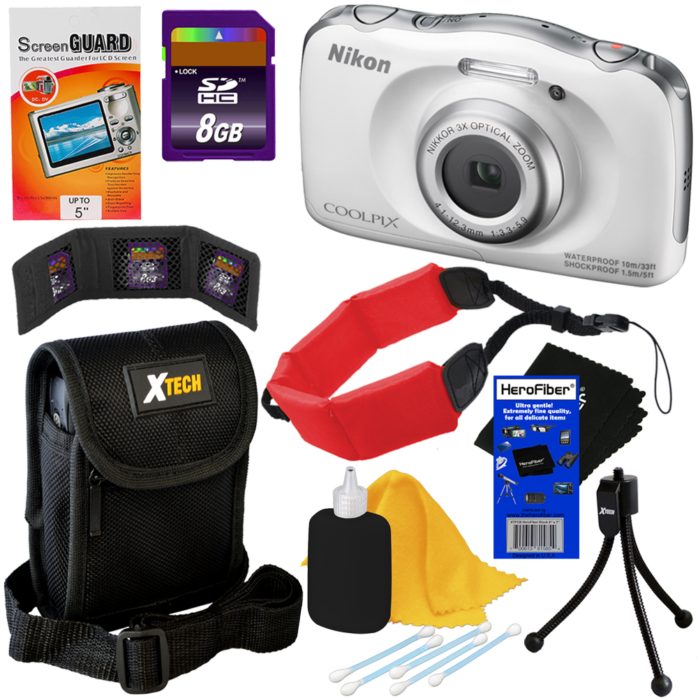 Nikon COOLPIX S33 Waterproof & Shockproof 13.2 MP Digital...