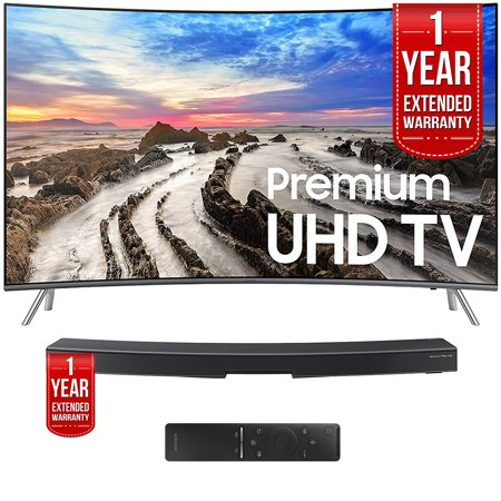 Samsung Un55mu8500fxza 55   Curved Uhd Smart Led Tv 2017 With Samsung Hw Ms6500 Za Sound  Curved Premium Soundbar  Both With 1 Year Extended Warranties