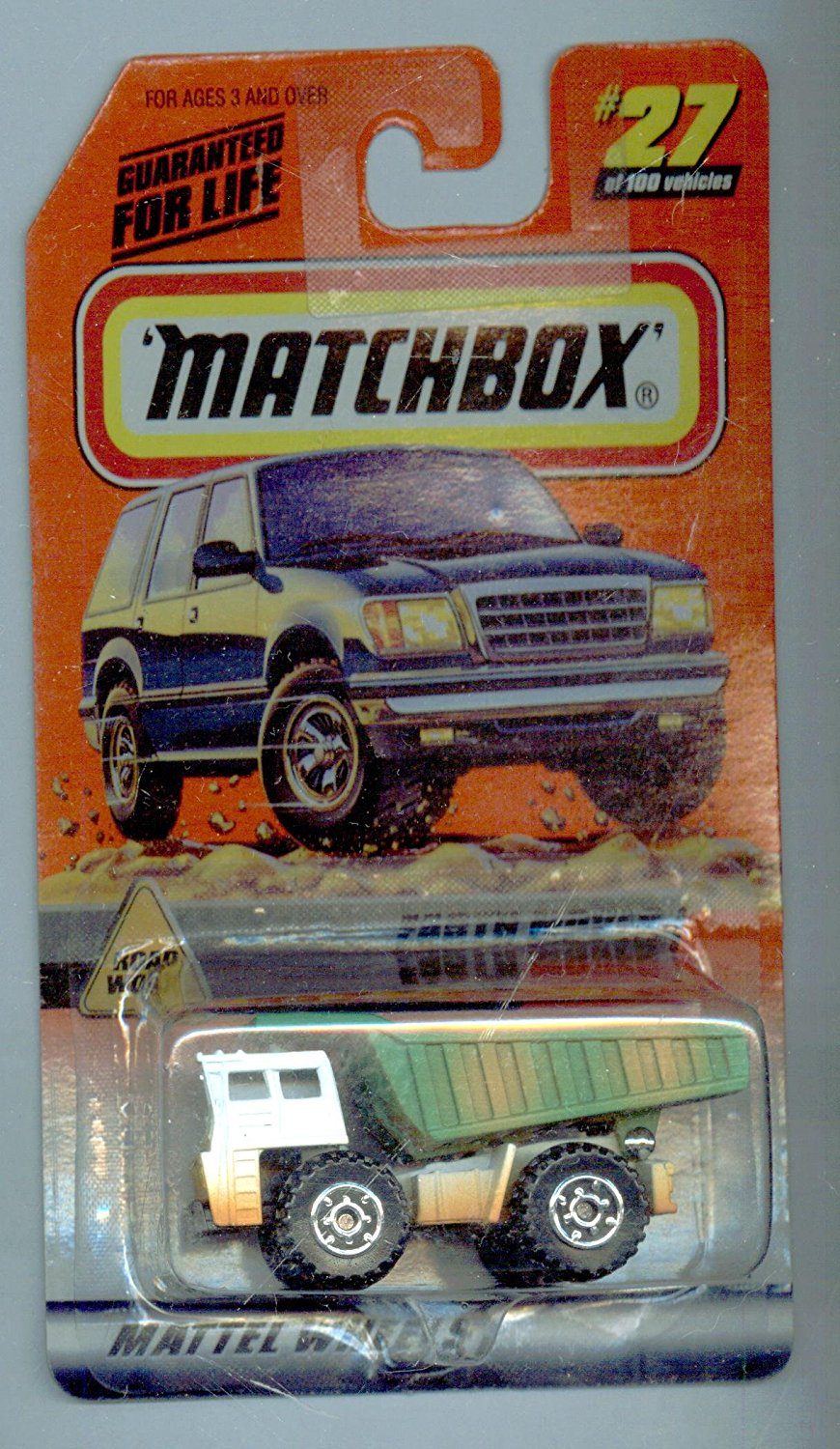 1999-27 100 Series 6 Road Work Earth Mover 1:64 Scale, By Matchbox by