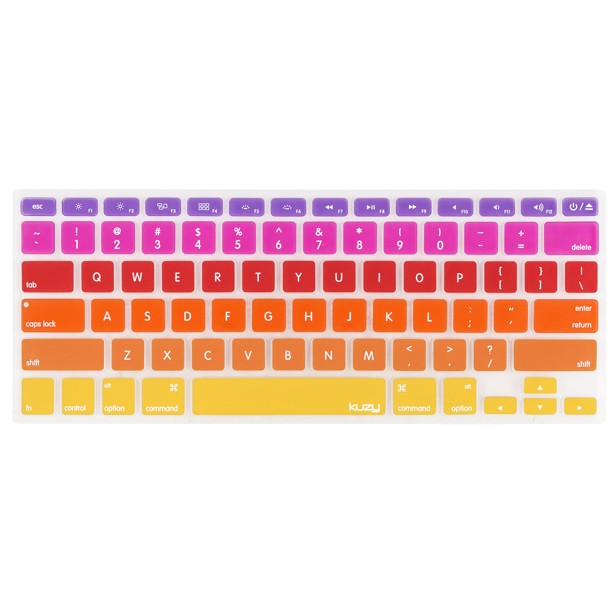 "Kuzy - Ombre Colors Keyboard Cover for Older MacBook Pro 13"" 15"" 17"" (with or w/out Retina Display) iMac and MacBook Air 13"" Silicone Skin - Ombre"