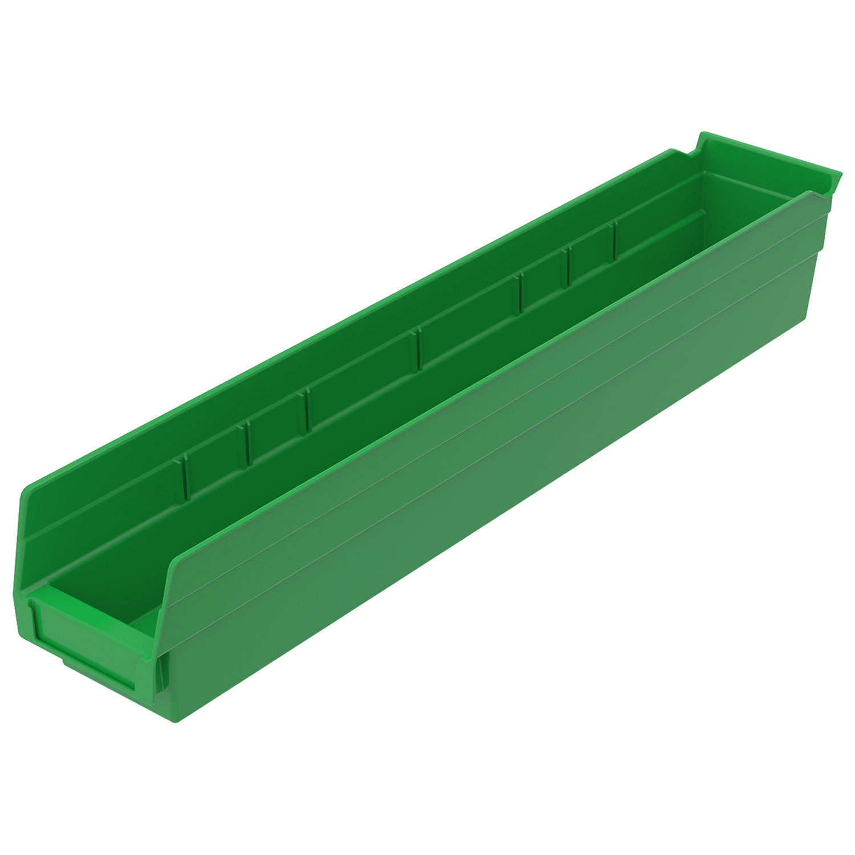 "Akro-Mils Plastic Shelf Bin Nestable 30128 - 4-1/8""W x 17-7/8""D x 4""H White"