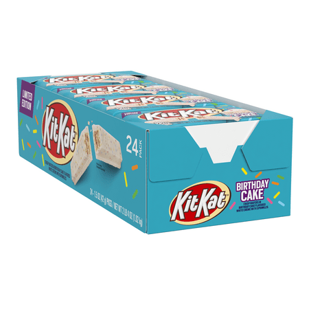 Kit Kat, Birthday Cake Standard Candy Bar Box, 1.5 Oz, 24 ct.