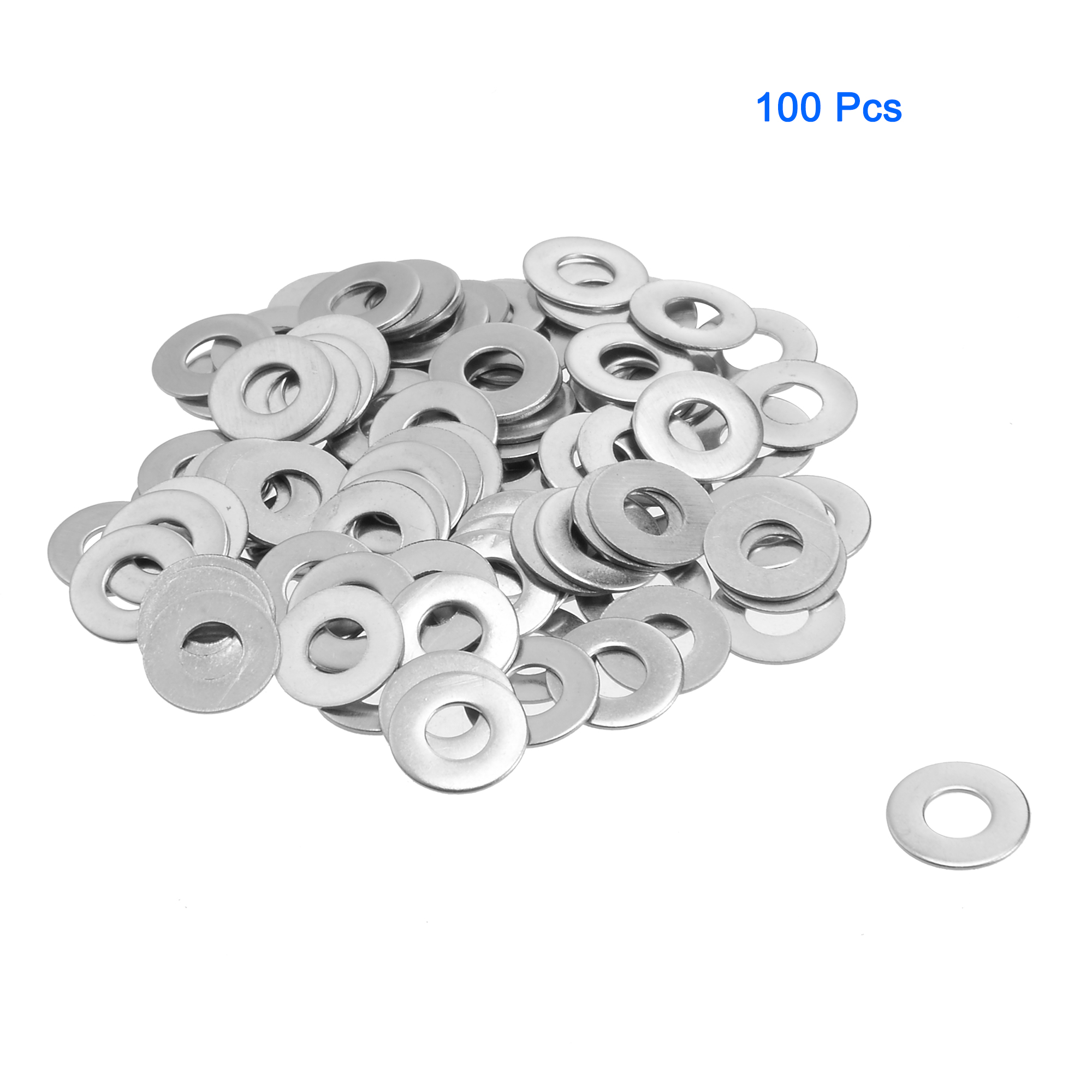 Unique Bargains M4 Stainless Steel Flat Washer (100 per box)