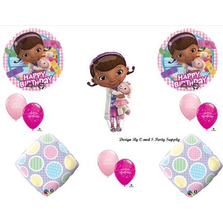 Doc McStuffins GINGHAM Happy Birthday PARTY balloons Decorations Supplies by Anagram](Dr Mcstuffins Party)
