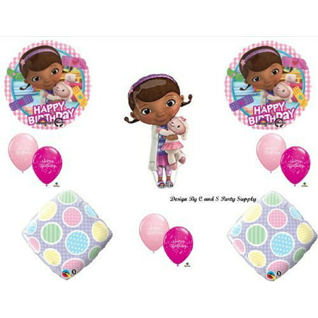 Doc McStuffins GINGHAM Happy Birthday PARTY balloons Decorations Supplies by Anagram - Doc Mcstuffin Party Decorations