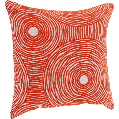 Better Homes & Gardens Chenille Swirls Decorative Throw Pillow, 18 inch x 18 inch