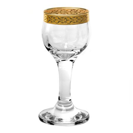 Lorren Home Trends Venezia 2 oz. Crystal Goblet (Set of 4)