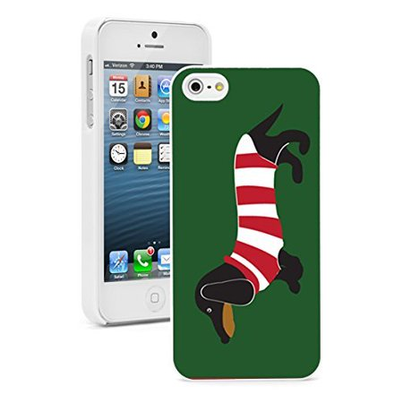 Apple Iphone  6 Plus   6S Plus  Hard Back Case Cover Dachshund Dog In Stripes  White