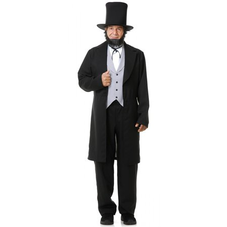 Abe Lincoln with Hat Adult Costume - Large (Abraham Lincoln Costume Ideas)