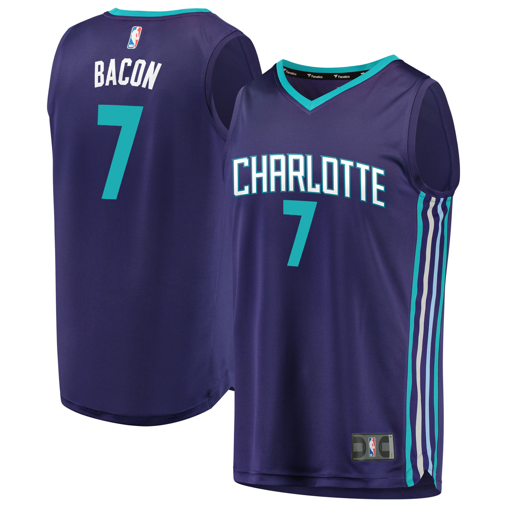 Dwayne Bacon Charlotte Hornets Fanatics Branded Fast Break Replica Player Jersey - Statement Edition - Purple