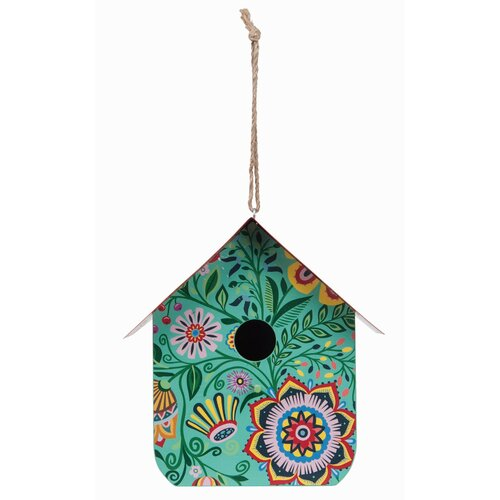 Rosalind Wheeler Cherrelle Wood Spring Riviera 9 in x 6 in x 9 in Birdhouse