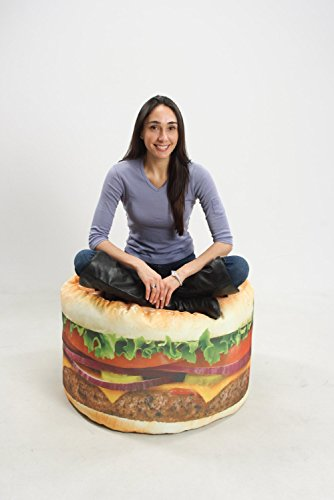 Superieur Wow Works LLC Hamburger Bean Bag Chair   Walmart.com