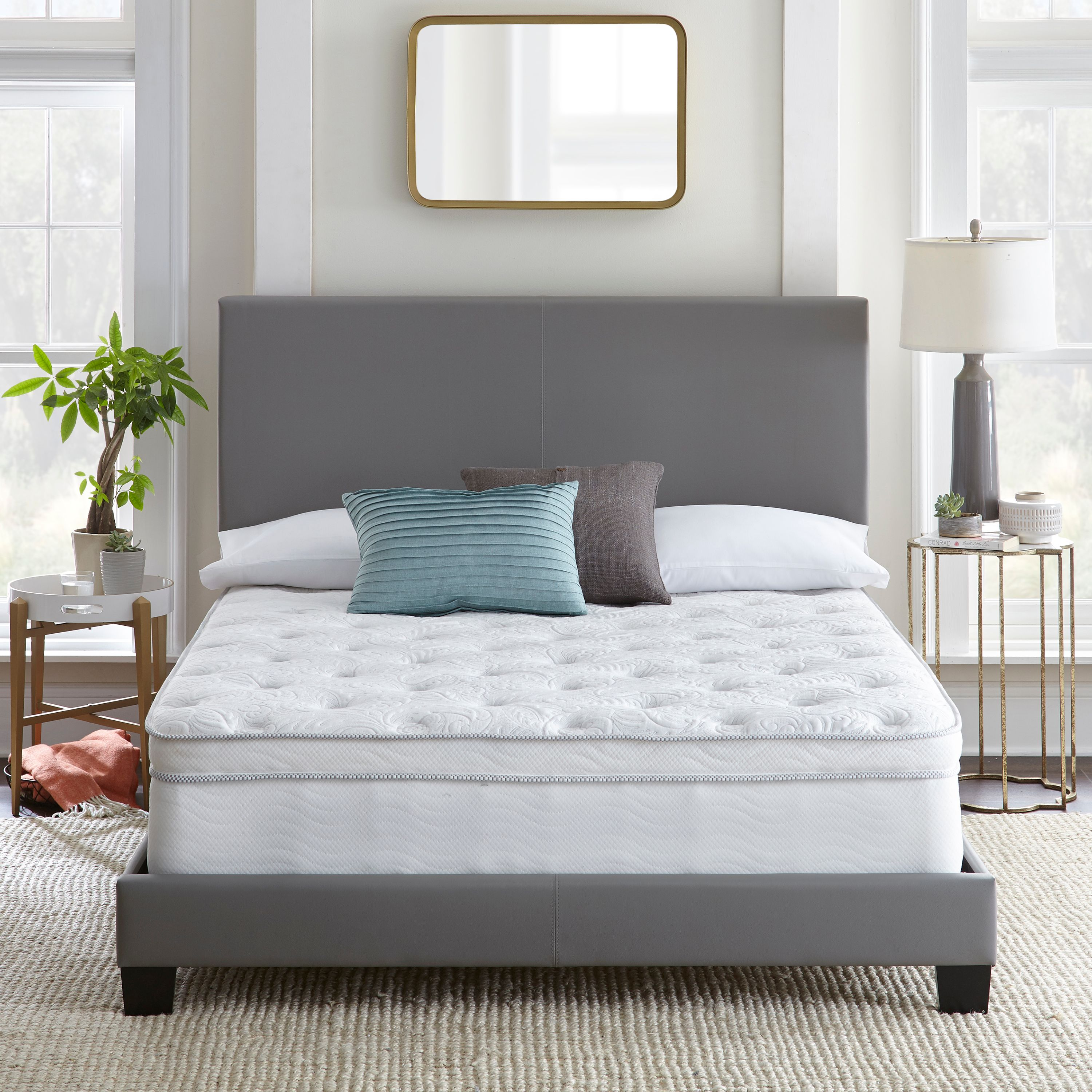 Contura Flex 12 Inch Plush Euro Top Innerspring Hybrid Mattress Bed