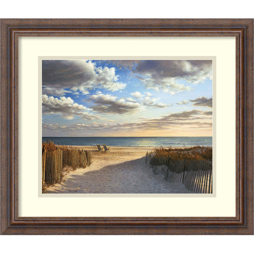 Amanti Art 'Sunset Beach' by Daniel Pollera Framed Photographic Print