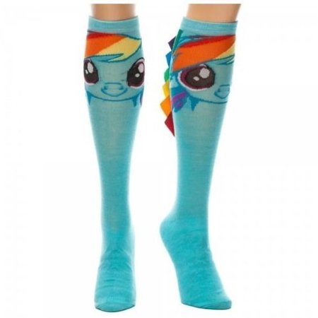 My Little Pony Rainbow Dash Knee High Socks With Mane