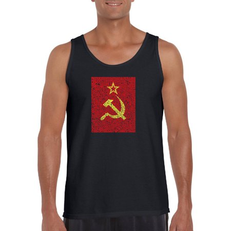 Big Men's Tank Top - Lyrics To The Soviet National (Soviet Anti Tank)